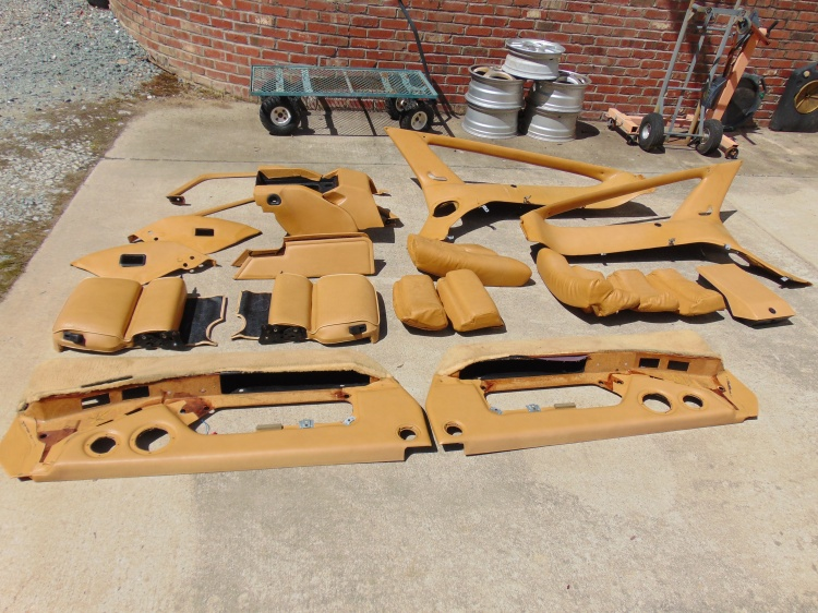 All these pieces came out of the car, plus the seats!