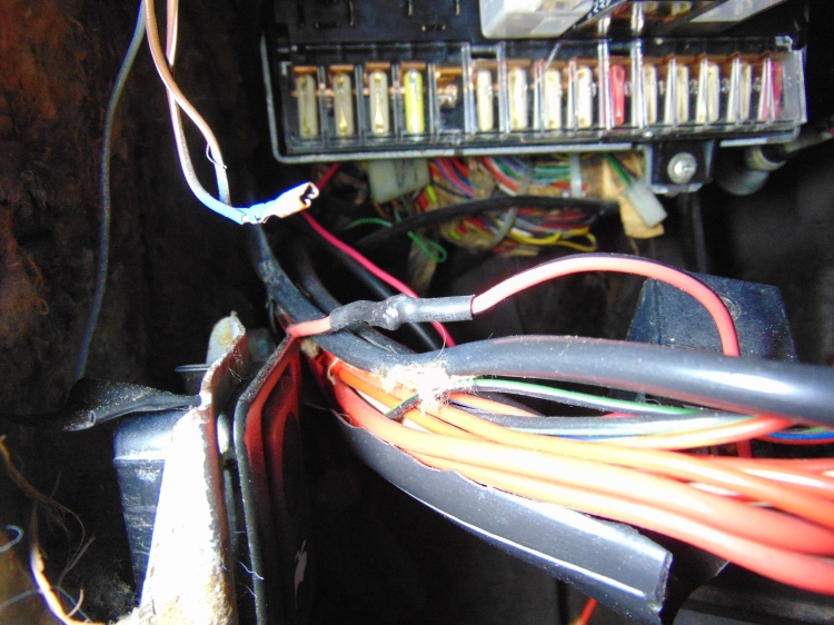 Soldered and heat shrink wrapped wiring connection