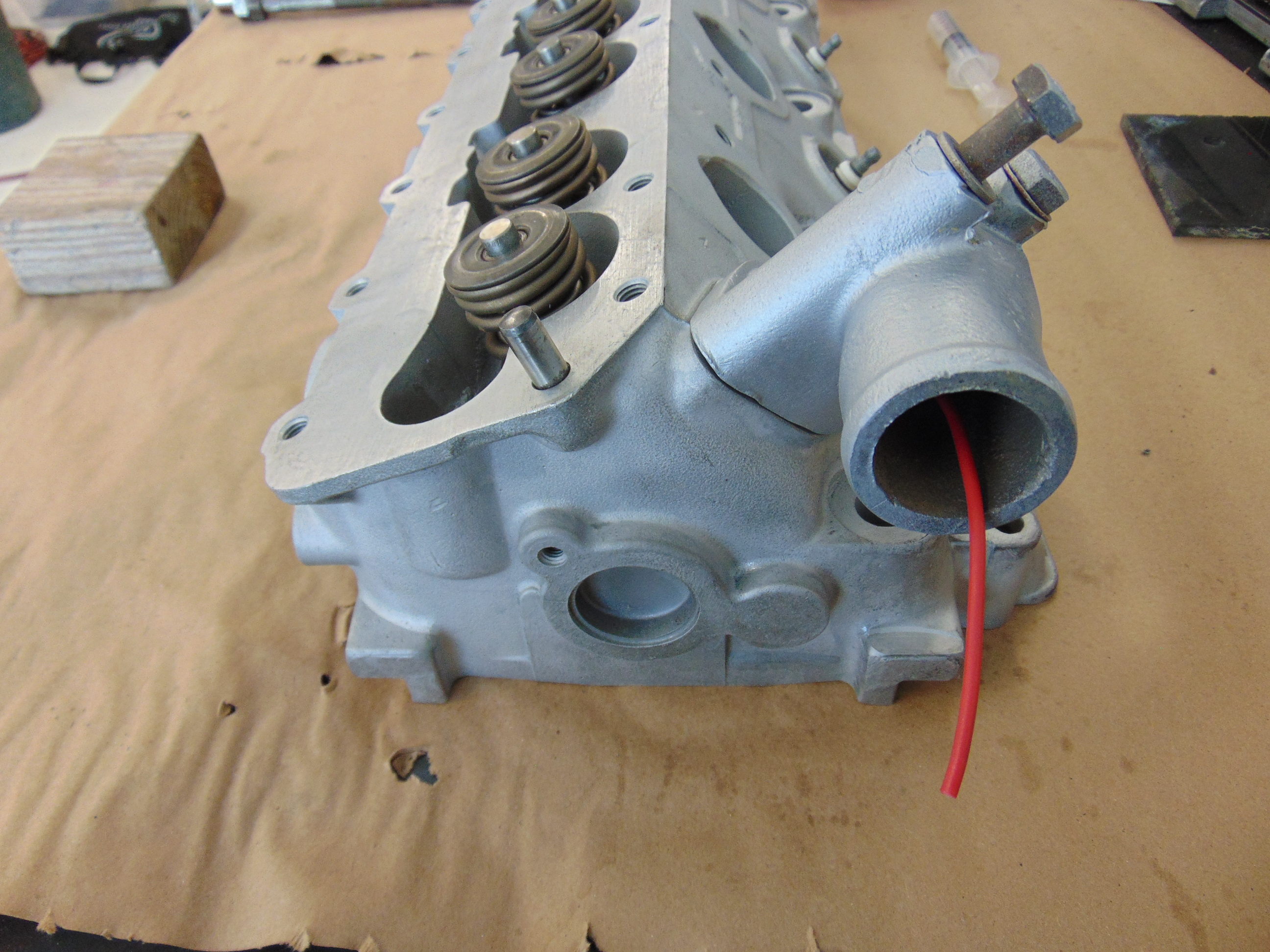Porsche 944 Coolant System Explained New Hill Garage General Engine Right Angle Fitting On The Top Of Block Where Hot Is Expelled Hex Bolt At Rear Picture One You Release When Filling Your